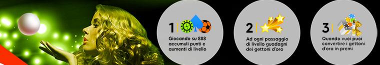 Eventi VIP Club sul Casinò 888